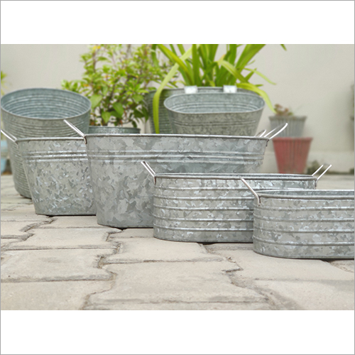 Steel Oval Planter