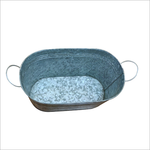Steel Oval Flower Planter