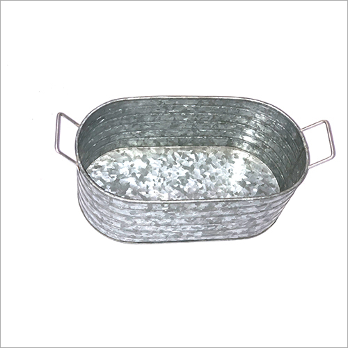 Stainless Steel Oval Planter