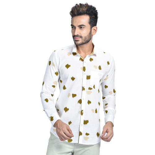 Mens Printed Partywear Shirt