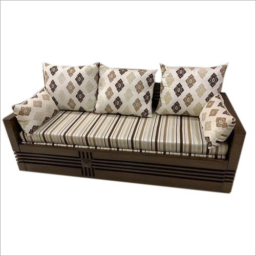 Wooden Sofa Cum Bed with Storage