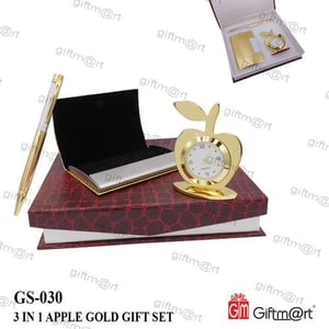 3 In 1 Apple Gold Gift Set