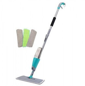 Spray Floor Mop Kit with 3 Reusable Microfiber Pads