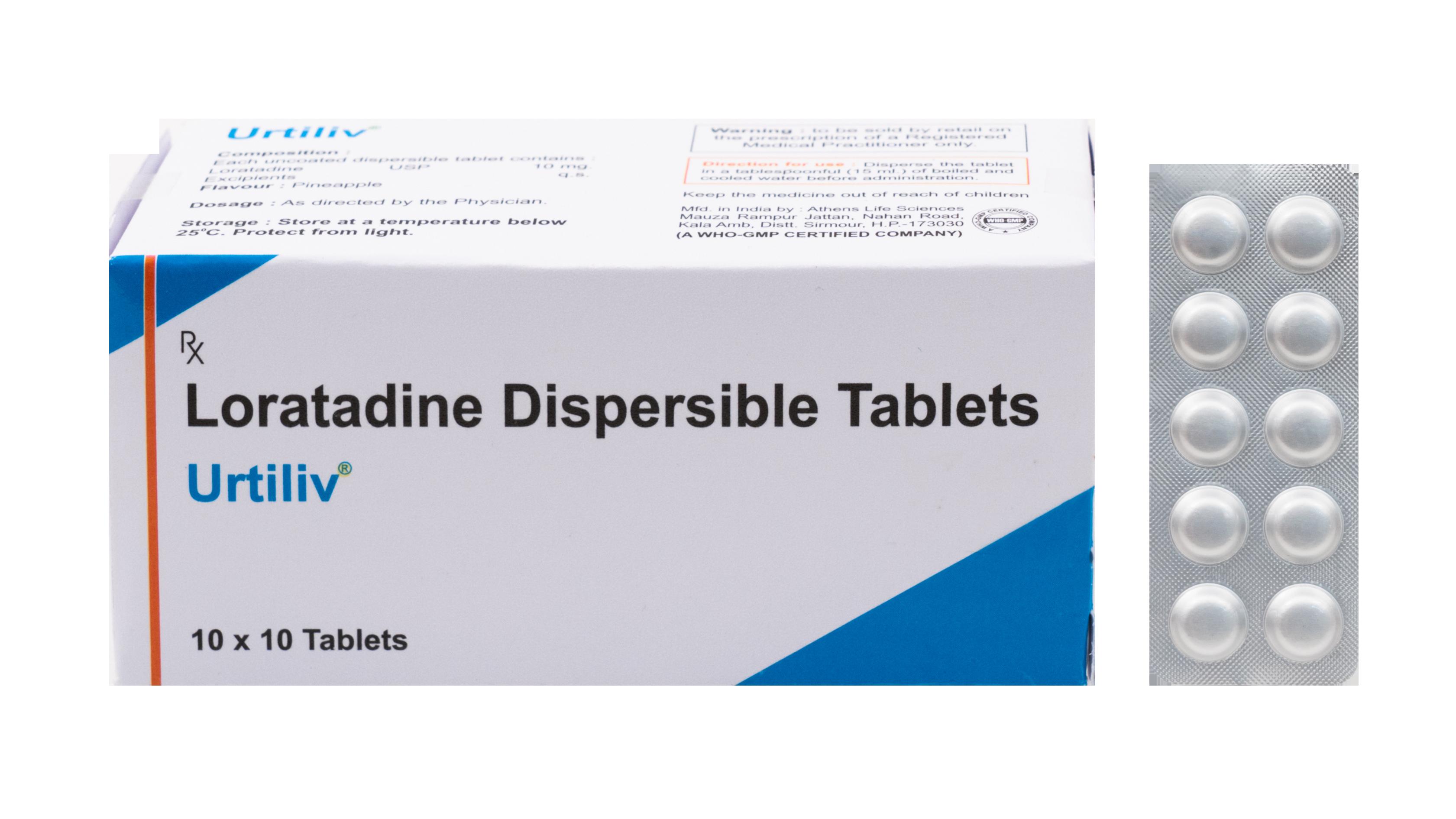 Loratadine 10mg Dispersible Tablet