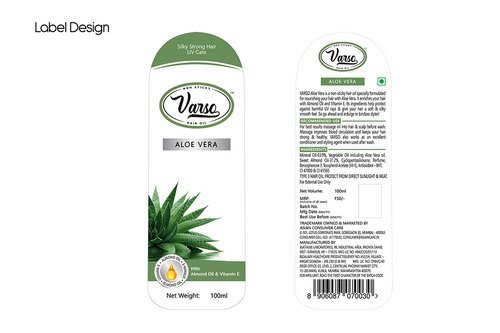 Hair Oil Sticker Label