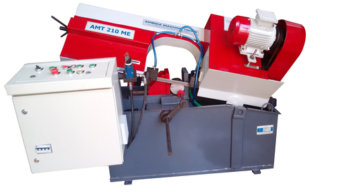 Hinge Type Semi Automatic Band Saw Machine