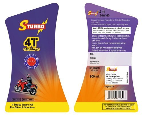 Lubricant Sticker Label