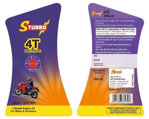 Lubricant Sticker Label