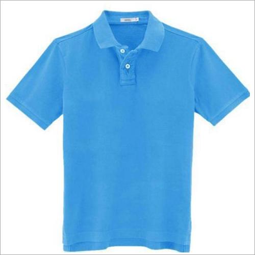 Mens Polo Neck Plain T-Shirt
