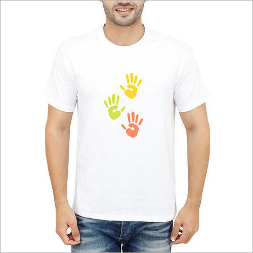 Mens Pure Cotton Printed T-Shirt