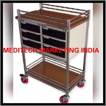 SS Medicine Table 6 Drawer