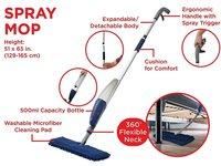 Flexible Microfiber Spray Mop with Reusable Cloth Pads
