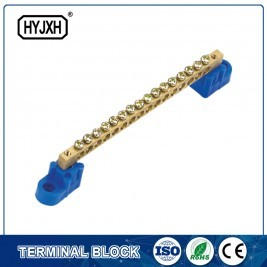 Single row zero line copper terminal