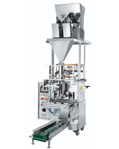 Two Head Weigher Fully Pneumatic Pouch Packing Machine