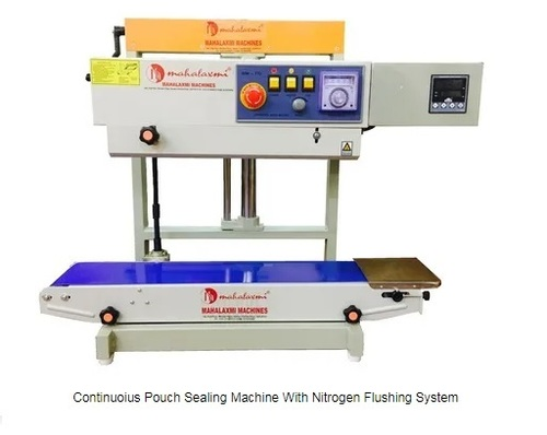 Continuous Pouch Sealing Machine With Nitrogen Flushing System