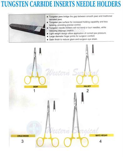 Tungsten Carbide inserts Needle Holder