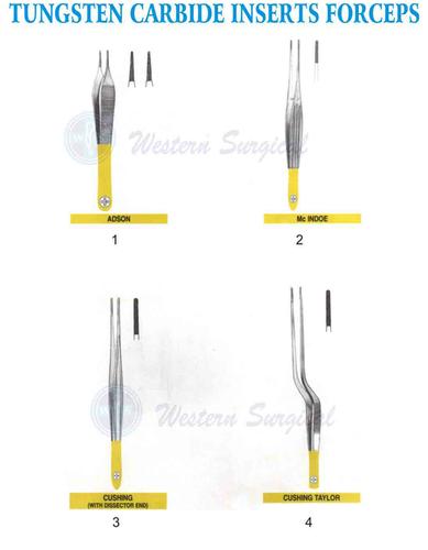 Tungsten Carbide inserts Forceps