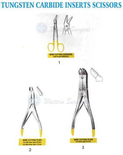 Tungsten Carbide inserts scissors
