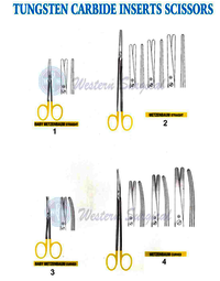 Tungsten Carbide inserts scissors