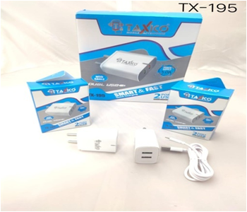Tx-195  Dual Usb Charger