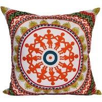 multi colour embroidery cushion