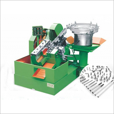 Vibration Plate Type Threading Machine With Gear Exposed