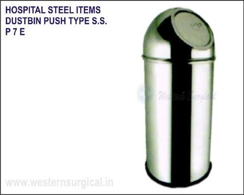Hospital Steel Items - Dustbin Push Type S.S.