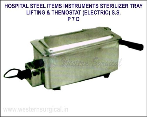 Hospital Steel Items - Instruments Sterilizer Tray Lifting & Thermostat (Elletric) S.S.