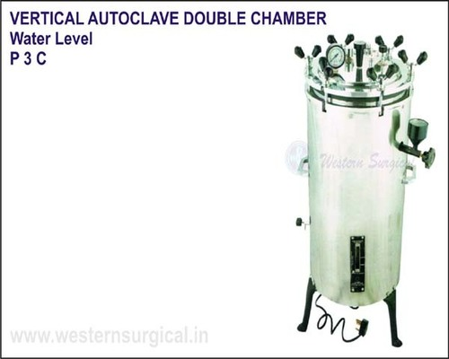 Vertical Autoclave Double Chamber Water Level