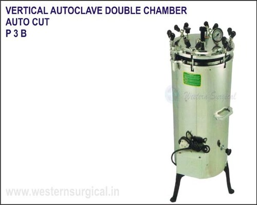 Vertical Autoclave Double Chamber Auto Cut