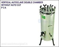 Vertical Autoclave Double Chamber Without Auto Cut