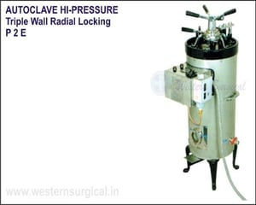 Autoclave Hi-Pressure Triple Wall Radial Locking