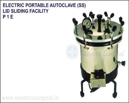 Electric Portable Autoclave (SS) Lid Sliding Facility