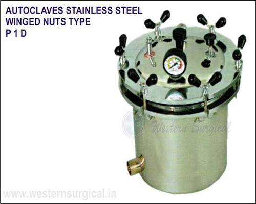 Autoclaves Stainless Steel Winged Nuts Type