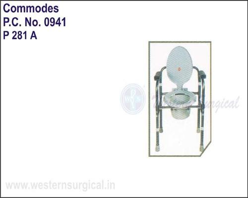 Invalid Folding Commode W/o Castors