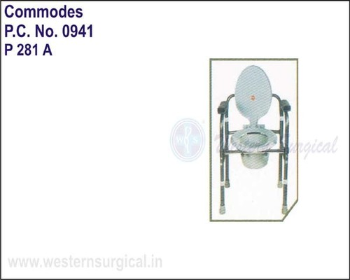 Invalid Folding Commode W/o Castors