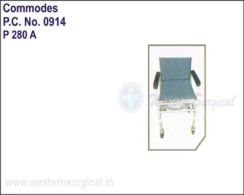 Invalid Adj. Commode With Black Rest / Fixed