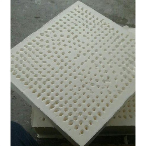 White Moulded Cushion