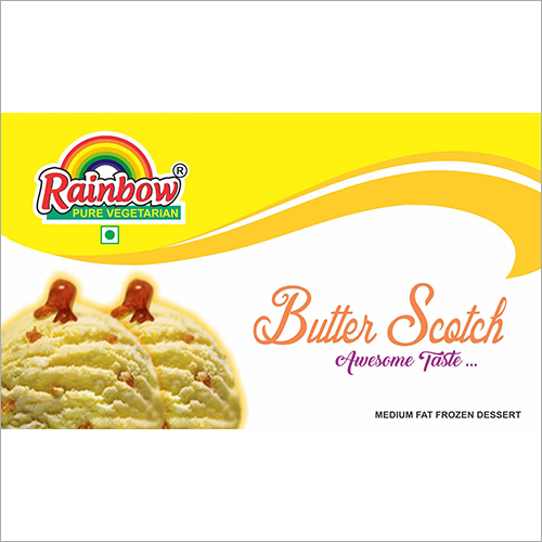 Butter Scotch Flavoured Ice Cream