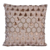 Brown cushion embroidery & Bead Work