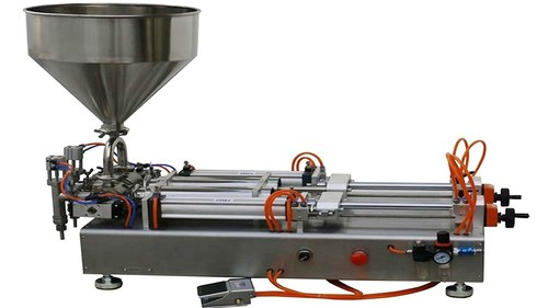 Semi Automatic Paste Viscous Liquid Filling Machine (Pneumatic Operated)