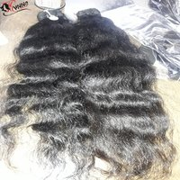 Remy Single Drawn Natural Colour Indian Human Hair