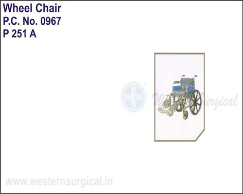 Wheel Chair (deluxe) With Elevated Foot Rest