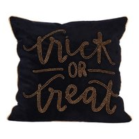 Black colour embroidery cushion