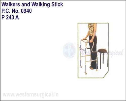 Invalid Step Adjustment Folding Walker Castors