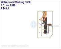 Invalid Step Adjustment Folding Walker Castors