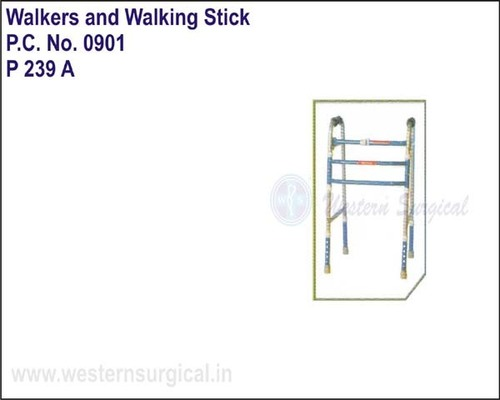 Invalid Foldable Adjustable Walker Plain