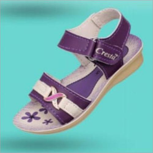 Girls Printed Velcro Sandals