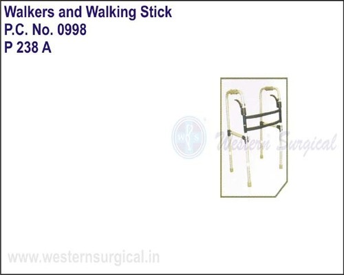 Folding Walker With Lever System For Locking