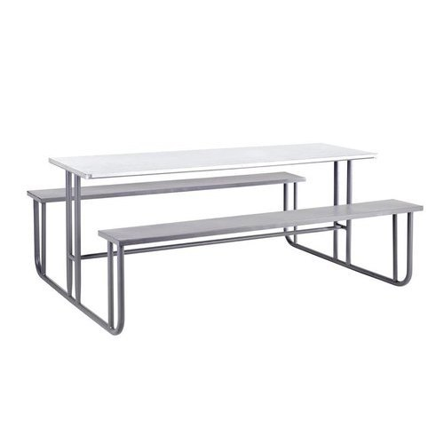 Stainless Steel Canteen Bench Table